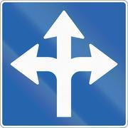 Lane Marking - Left, Straight Or Right - stock illustration