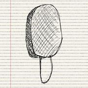 Illustration of an ice lolly Stock Illustration