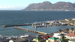 Panning shot of Kalk Bay harbour, Cape Town,South Africa Stock Footage