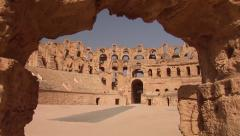 Colosseum of El Jem Stock Footage