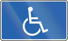 Disabled In Iceland - stock illustration