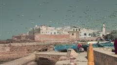 Essaouira Fortress Stock Footage