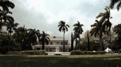 Colonial House in Jamaica Stock Footage