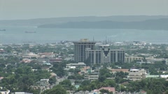 Aerial view of Kingston, Jamaica Stock Footage