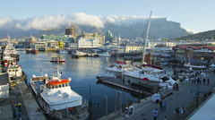 Time-lapse of the Victoria and Alfred Waterfront, Cape Town,South Africa Stock Footage