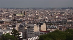 Aerial view of Paris Stock Footage