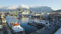 4K Time-lapse of the Victoria and Alfred Waterfront, Cape Town,South Africa - stock footage
