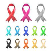 Awareness Ribbons - multiple colors concept Stock Illustration