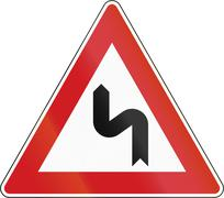 Double Curve First To Left In The Czech Republic Stock Illustration