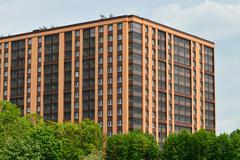 New building on Gorky street. Kaliningrad, Russia - stock photo