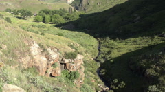 Sand stone cliffs of the Golden Gate highlands National Park,Free State,South Stock Footage