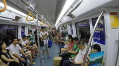 Subway in Shenzhen of China Stock Footage
