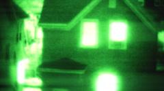 Night Vision footage Stock Footage