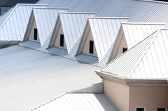 Triangle shaped roofing - stock photo
