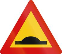 Icelandic Speed Bump Sign Stock Illustration