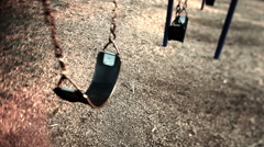 Abandoned Swing set - stock footage