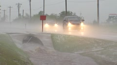 Flooding and hail - stock footage