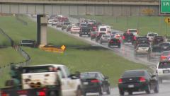 Oklahoma Tornado Traffic Stock Footage