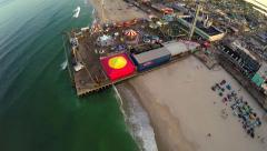 Seaside Heights Aerial - stock footage