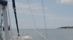 View from a moving sailing boat Stock Footage