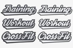 Tags Training Workout CrossFit in sports style Stock Illustration
