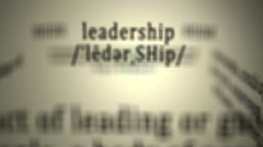 Definition: Leadership Stock Footage