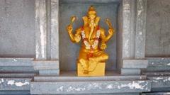 Sculpture of the Hindu God Ganesha Stock Footage