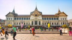 The Chakri Maha Prasat Grand Palace Of Bangkok, Thailand (zoom in) Stock Footage