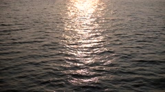 Sailing Down the Hudson River in Manhattan New York Sunset Stock Video - stock footage