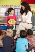 Group Of Elementary Age Schoolchildren In Class With Teacher Stock Photos