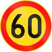 Speed Limit 60 In Finland Stock Illustration