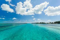 Endless Caribbean sea Stock Photos
