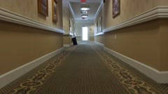Empty hallway of an assisted living facility Stock Footage