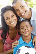 Close Up Portrait Of Young African American Family Stock Photos