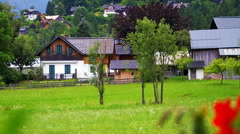 Small village in swiss, Switzerland houses Stock Footage