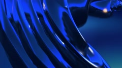 Abstract fantasy organic forms blue background 2 Stock Footage