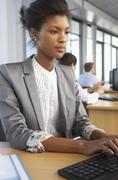 Worker In Busy Office Kuvituskuvat