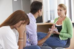Couple Having Counselling Session - stock photo