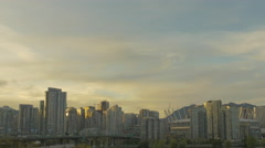 Vancouver - Sunset Skyline - 30P - ProRes 4:2:2 10 Bit - UHD 4K Stock Footage