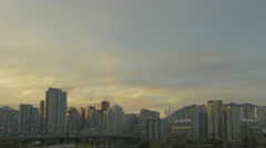 Vancouver - Sunset Skyline - 25P - ProRes 4:2:2 10 Bit - UHD 4K Stock Footage