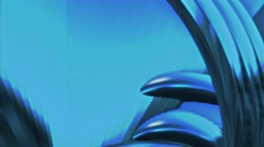 Abstract fantasy organic forms blue background 1 Stock Footage