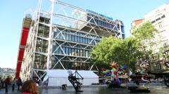 Centre Pompidou in Paris Stock Footage