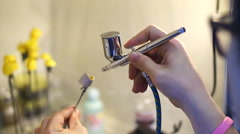 Air brush for model Stock Footage