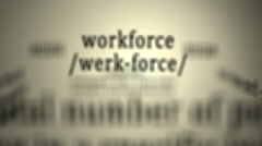Definition: Workforce Stock Footage