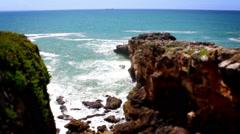 Cliff Waves, Tile Shift, Time Lapse, Cascais, Lisbon, Portugal Stock Footage
