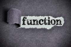 function word under torn black sugar paper - stock photo