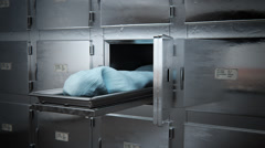 Animation of Dead Body In Morgue Stock Footage