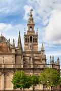Gothic Seville Cathedral in Spain Stock Photos