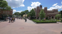 The Hampton Court Palace at Walt Disney World Resort, Orlando Stock Footage