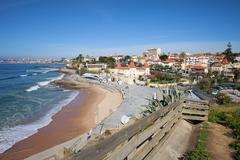 Stock Photo of Estoril Beach in Portugal